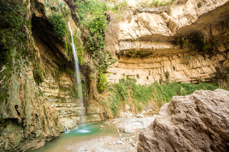 nature reserves of israel: Waterfall in En Gedi Nature Reserve and National Park, Israel