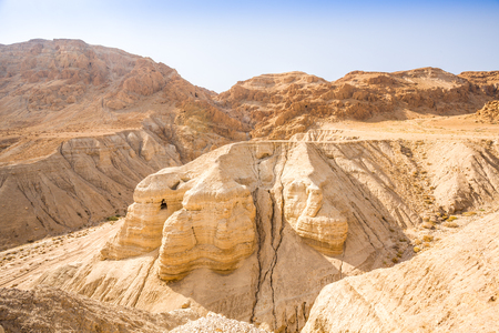 ancient scroll: Cave in Qumran, where the dead sea scrolls were found, Israel