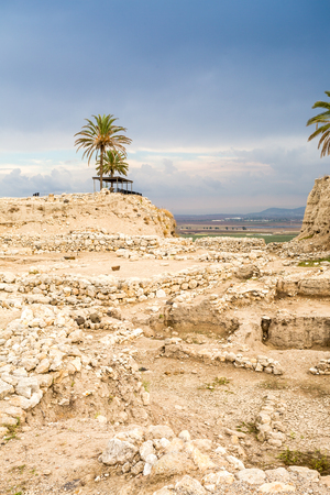king solomon: Tel Megiddo National Park, Jezreel Valley, Israel, Middle East Stock Photo