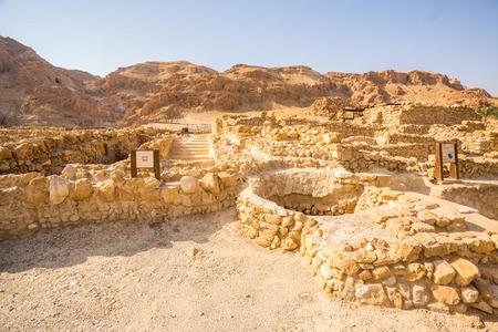 Qumran, where the dead sea scrolls were found, Israel