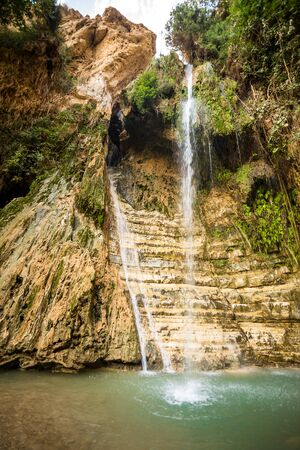 ein: Waterfall in En Gedi Nature Reserve and National Park, Israel