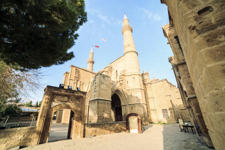 selimiye mosque: Selimiye Mosque, former Saint Sofia Church, Nicosia, Northern Cyprus Stock Photo