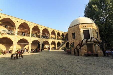 The Great Inn, Buyuk Han in Nikosia, The Turkish Republic of  Northern Cyprus Editorial