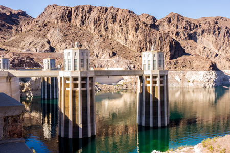 hoover: Hydroelectric power plant named Hoover Dam, Nevada, USA Stock Photo