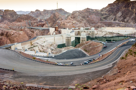 hydroelectric: Hydroelectric power plant named Hoover Dam, Nevada, USA Stock Photo