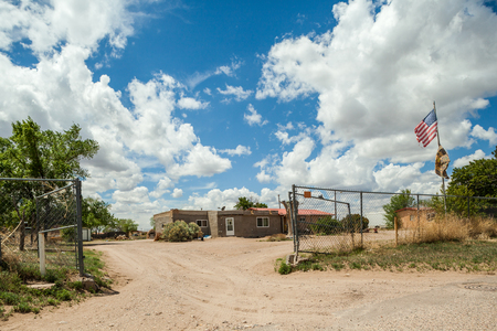 Cochiti Indians reservation in New Mexico, United States of America Stock Photo
