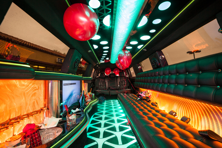 Being ready for big party in a limousine