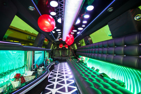 Being ready for big party in a limousine Banco de Imagens - 62719276