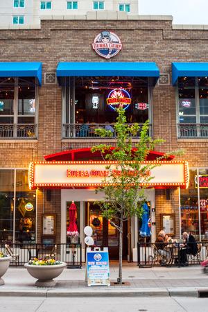 denver co: Denver, USA - May 4, 2015: Famous Bubba Gump Shrimps Co in city center of Denver, Colorado Editorial