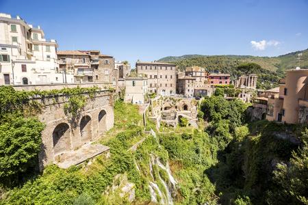 lazio: Beautiful park of Villa Gregoriana and Tivoli, Lazio, Italy Stock Photo