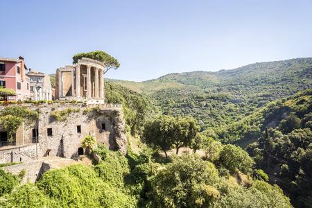 lazio: Beautiful ruins in park of Villa Gregoriana in Tivoli, Lazio, Italy