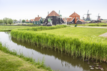 Symbols of The Netherlands - canals and windmills