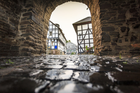 middleages: Traditional prussian wall in architecture at historic Blankenberg, Germany