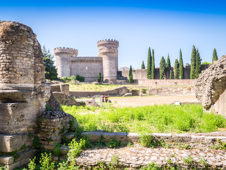 stronghold: Stronghold Rocca Pia and Amphitheater di Bleso, Tivoli, Lazio, Italy