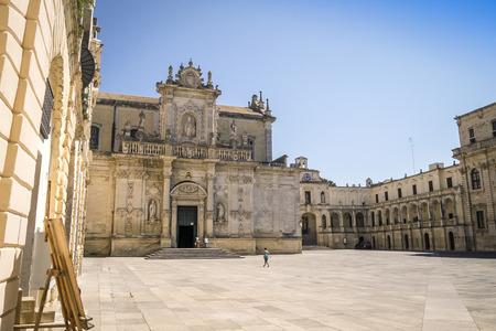 the campanile: Cathedral of Lecce and Il Campanile Monument, Lecce, Puglia, Italy