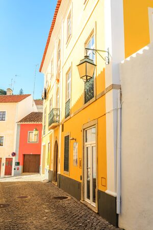 Charming southern street in the afternoon, Monchique, Algarve, Portugal