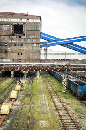 conveyors: Mining infrastructure in Laziska Gorne, Silesia, Poland