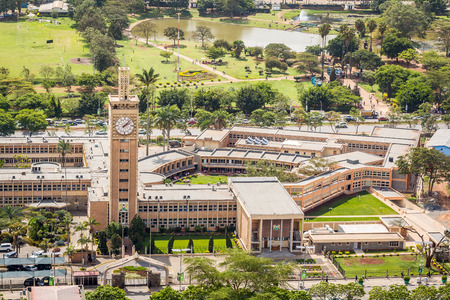 Kenya Parliament Buildings in the city center of Nairobi. Stok Fotoğraf - 70275420
