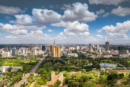 Nairobi city center - capital city of Kenya, East Africa Standard-Bild