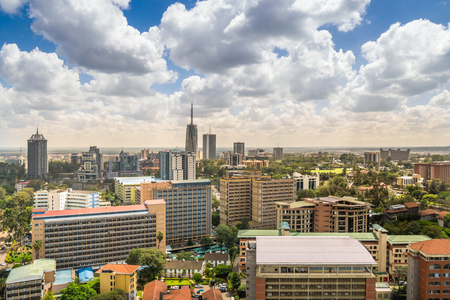 Nairobi city center - capital city of Kenya, East Africa Stock Photo