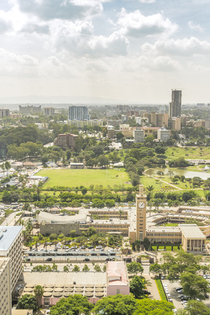 nairobi: Nairobi cityscape - capital city of Kenya, East Africa