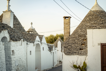 Traditional trulli houses in Arbelobello, Puglia, Italy, Europe