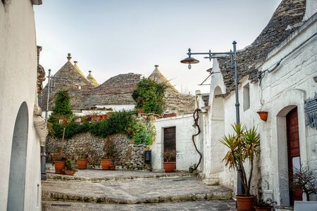 Traditional trulli houses in Arbelobello, Puglia, Italy, Europe