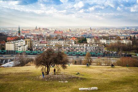 View of Krakow from Kraks Mound, Poland
