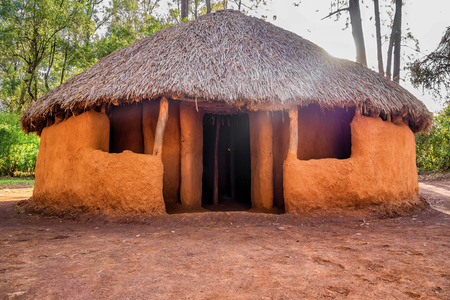 Traditional, tribal hut in Bomas of Kenya, Nairobi, East Africa