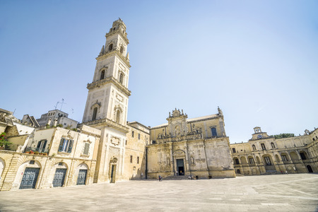 Historic cathedral is one of the landmarks in Lecce, Puglia, Italy