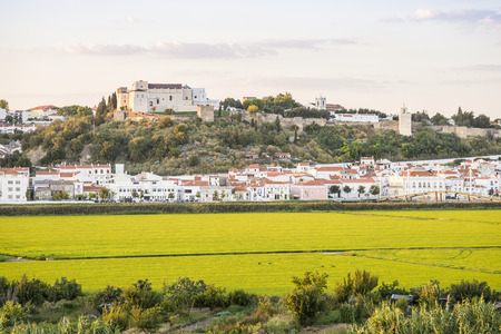 Alcacer do Sal with old castle and walls, Portugal