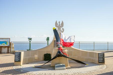 General Wladyslaw Sikorski Memorial on Europe Point at Gibraltar, British Oversea Territory Stok Fotoğraf