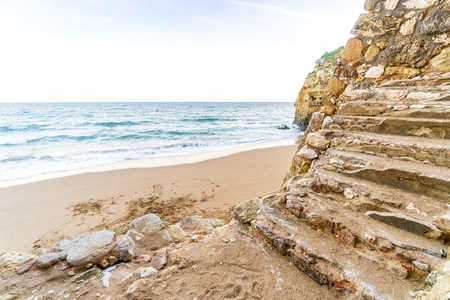 Praia dos estudantes in Lagos, Algarve, Portugal