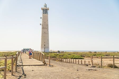 Lighthouse in Morro Jable on Fuerteventura, Canary Island, Spain