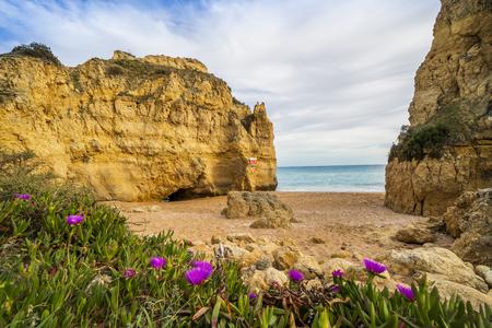 Beautiful Fraternidade Beach in Albufeira, Algarve, Portugal