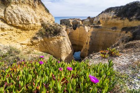 Beautiful coast in Albufeira, Praia do Castelo, Algarve, Portugal