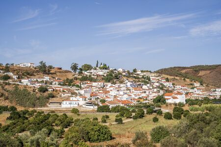 Cute, traditional portuguese town of Odeleite, famous because of water dam, Algarve, Portugal