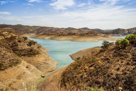 Beautiful Odeleite reservoir, north part of Algarve, Portugal
