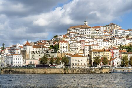 Beautiful old town of Coimbra located on the hill by Mondego river, Portugal