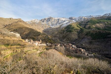 Small berber village located high in Atlas mountains, Morocco