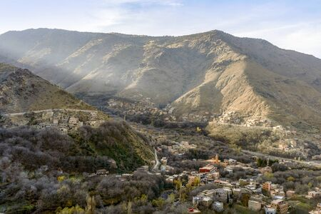 Berber town Imlil located in High Atlas mountains, Morocco