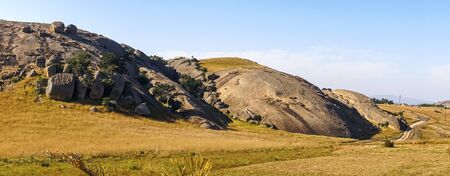 Beautiful, hilly landscape of small African country called Eswatini