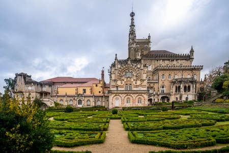 Luxury palace hotel surrounded by beautiful garden, Mealhada, Serra do Bussaco, Portugal