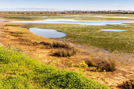 Beautiful landscape of Ria Formosa Natural Park, Olhao, Algarve, Portugal Imagens