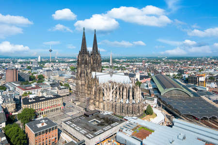 City of Cologne in summer