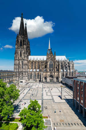 Cologne cityscape in summer