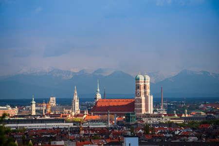 Munich Alps Panorama Stok Fotoğraf