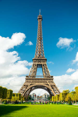 Parijs Eiffeltoren Stockfoto