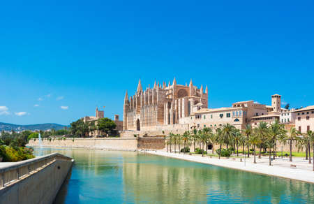 Palma de Mallorca, port marina Majorca Cathedral Stock Photo