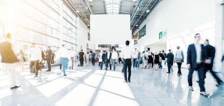 futuristic environment with blurred people business concept